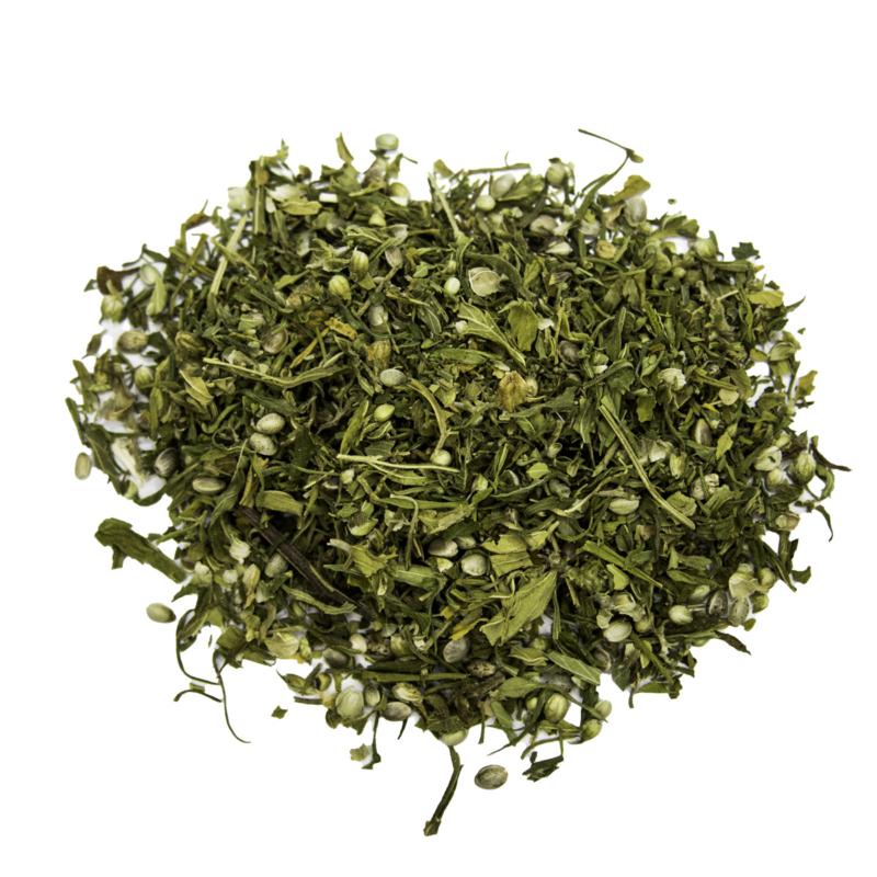 Hanfblätter-Tee mit Blätter und Blüten