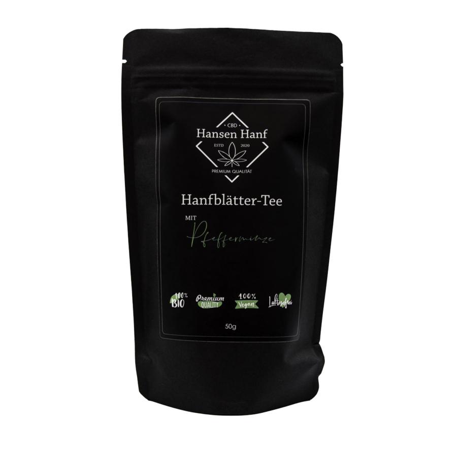 Hanfblätter-Tee Pfefferminze