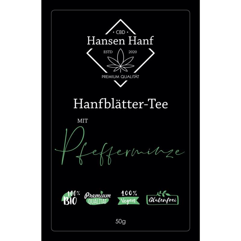 Hanfblätter-Tee Pfefferninze