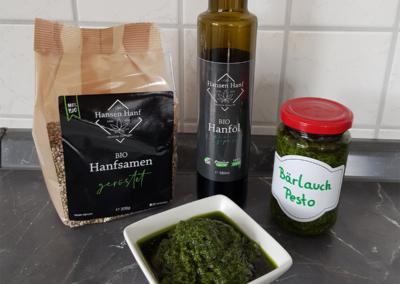 Bärlauch-Pesto mit Hanfsamen