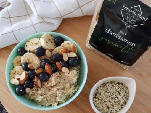 Porridge mit Hanfsamen