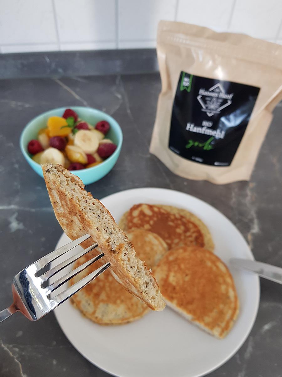 Protein Pancakes mit Hanfmehl