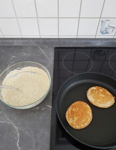 Protein Pancakes mit Hanfmehl selbermachen