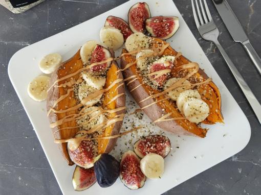 Süßkartoffel-Obst-Teller